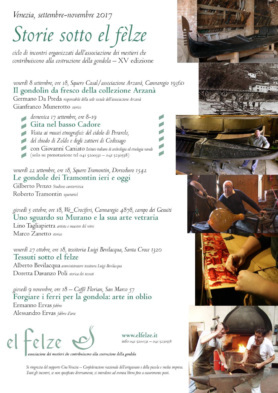 Locandina Storie Sotto El Felze 2017 - homepage