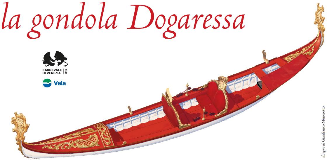 Disegno della gondola Dogaressa di Gianfranco Munerotto